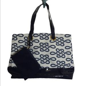 Handbags - NWOT Navy Blue and White Tote Bag